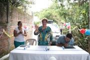 Inauguración de proyecto en Pasaje Hernández, Final Bo San José, Calle a Candelaria